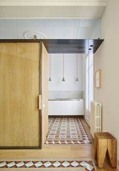 In AB House, architecture firm Built faces the challenge to balance former and new elements by recovering the features of the original apartment and getting rid of any element that blots the perception of space #kitchen