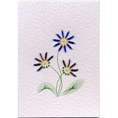 Stitching Cards Three Bead Flowers
