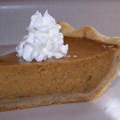 Mrs. Sigg's Fresh Pumpkin Pie