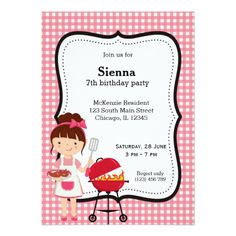 120 best bbq birthday party invitations images on pinterest