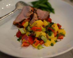 Pork Tenderloin with Mango Salsa #Paleo
