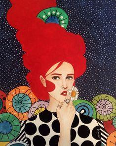 Por amor al arte: Hülya Özdemir Graphic Design Illustration, Watercolor Illustration, Watercolor Art, Painting Inspiration, Art Inspo, Arte Pop, Art Graphique, Portrait Art, Art Pictures