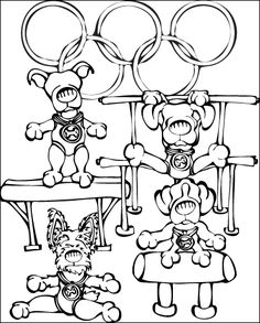 gymnastics coloring pages - Coloring Page Gymnastics