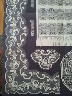 Filet Crochet Charts, Crochet Borders, Crochet Lace, Rope Crafts, Diy And Crafts, Filets, Handicraft, Needlework, Embroidery