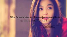 """""""When I'm hurt by others too, if I see myself smiling prettily like that, it comforts me a little. That's how I am."""" Cheon Song Yi """"My Love From Another Star"""""""