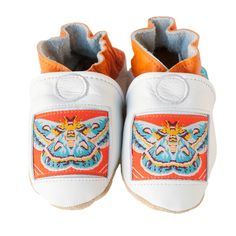Luna baby shoes in allnatural leather white with by cadeandco, $34.00