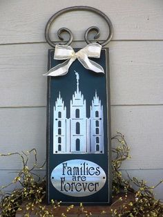 Salt Lake LDS Temple w/Families are Forever by huckleberrylady, $40.00    #MormonLink #LDSTemples