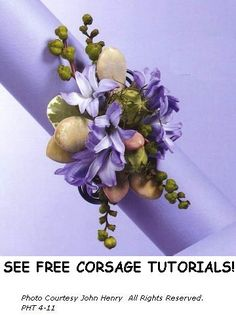 Prom and Wedding Corsage Ideas.  Find all the professional florist supplies you need to make your own