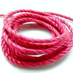 Lot de 10 mètres de corde nylon 3 brins fuschia 6 mm