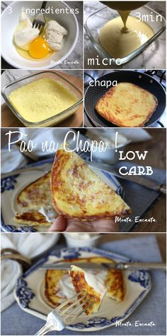 Pão low carb na chapa, pronto em 3 minutos! Low carb bread on the plate is a carbohydrate fit bread, besides being tasty and very [. Healthy Low Carb Dinners, Low Carb Drinks, Healthy Recepies, Low Carb Dinner Recipes, Low Carb Desserts, Vegetarian Dinners, Vegan Recipes, Low Carb Grocery, Menu Dieta