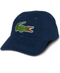 quality design 83386 d39f2 Lacoste Core Hat, Large Croc Gabardine Cap   macys.com Lacoste Men, Hats
