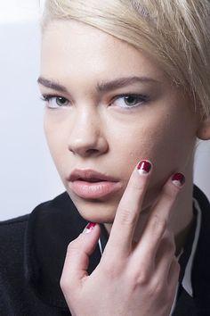 Half Moon Manicure at Clements Ribeiro London Fashion Week