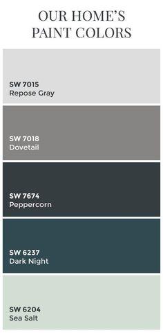 1000+ ideas about Dark Gray Paint on Pinterest | Gray paint, Gray paint colors and Grey bedroom colors    repose gray