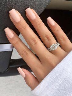 Spring Nails, Summer Nails, Winter Nails, Natural Wedding Nails, Natural Nails, Pink Nail Colors, Pointy Nails, Wedding Nails Design, Nail Wedding