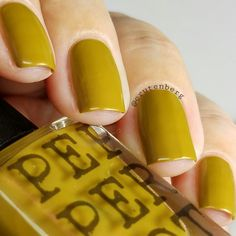Ive called this polish Bombshell. This creme nail polish is an awesome mustard yellow that has a slightly dark red/black mica sheen, similar to Acid Queen and its green oily -like tint. Check out swatcher Charity on Instagram, @crutenberg to see more of her amazing work! What does