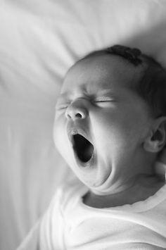 Was für ein niedlicher Anblick :) baby yawns