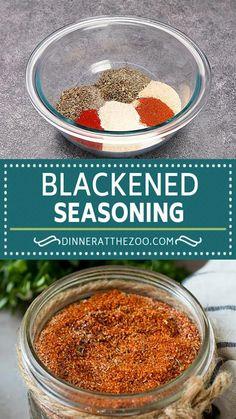 Homemade Spice Blends, Homemade Spices, Homemade Seasonings, Seafood Seasoning, Seasoning For Chicken, Seasoning Mixes, Blackened Seasoning, Amazing Food Videos, Rib Recipes