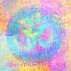 Om sign illustrated with higher chakra colors. by Elena Ray  antaratma.photoshelter.com
