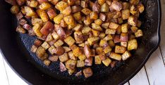 How to make home fries at home that are tender and soft on the inside, slightly spicy, and crispy on the outside!
