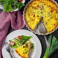 Purjolökspaj med västerbottensost - recept   Mitt kök Quiche, Cabbage, Tacos, Vegetables, Breakfast, Ethnic Recipes, Food, Inspiration, Morning Coffee