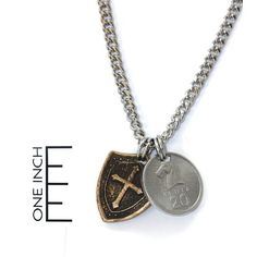 Horse and Shield Men's Necklace American Coin Treasures. $49.95. Certificate of Authenticity. Greek Coin. Bronze Charm. Lobster Claw Clasp. Manufacturer Warranty