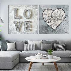 Love Wall Art, Wall Art Sets, Modern Wall Art, Vintage Wall Art, Vintage Walls, Vintage Posters, Nordic Art, Nordic Home, Canvas Art Prints