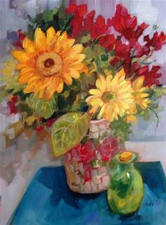 """Daily Paintworks - """"Wonderland"""" - Original Fine Art for Sale - © Libby Anderson"""