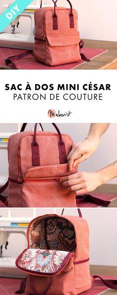 8c7976f4e3338 Sac à dos Mini César - Patron de couture pdf disponible en ligne sur  makerist.