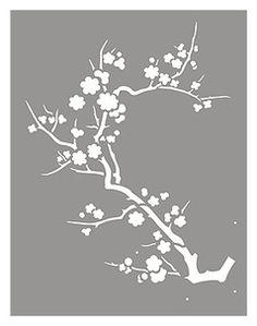 Contemporary Japanese cherry blossom motif