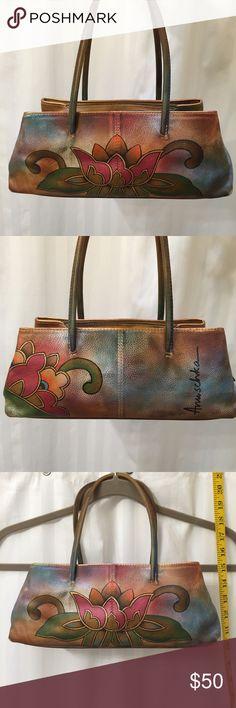 2da811edb19c Anushka handpainted lotus leather purse A work of art! Simple lotus design  for yogis!