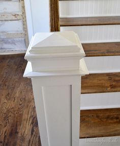 how to DIY a Craftsman-style newel post