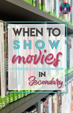 Wondering when it's okay to show movies in school? Movies are visual texts. Here are some ideas for using them to support learning. #moviesinschool #highschoolela
