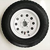 Radial Trailer Tire + Rim ST205/75R15 205/75-15 15 5 Lug Wheel White Modular   Tire Weight Rating – 1820 Lbs. Bolt Pattern – 5 Lug on 4.5″ Rim Diameter – 15″ Tire Load Range – Load Range C = 6 Ply Construction Tire Size – ST205/75R15  Pre-Mounted Trailer...