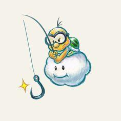 Lakitu - Yoshi's New Island, 3DS