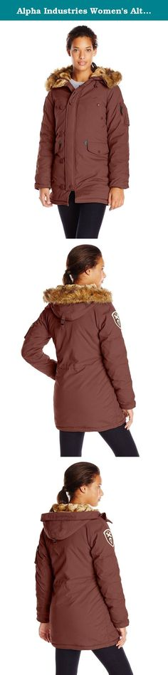 Alpha Industries Women's Altitude Slim Fit Oxford Nylon Parka, Red Ochre, Small. Our popular altitude parka has been styled for women. The n-3b-inspired parka has an oxford nylon shell and polyester lining. The soft, faux mouton-lined hood and storm flap and cuffs helps keep you warm in the cold conditions. Other features include an embroidered sleeve patch, multiple pockets and reinforced elbows. Alpha industries is a 55-year-old heritage military company that originally supplied the…
