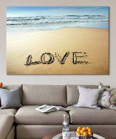 Look what I found on #zulily! Ben Heine 'Love' Gallery-Wrapped Canvas #zulilyfinds