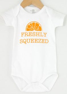Baby onesie FRESHLY SQUEEZED