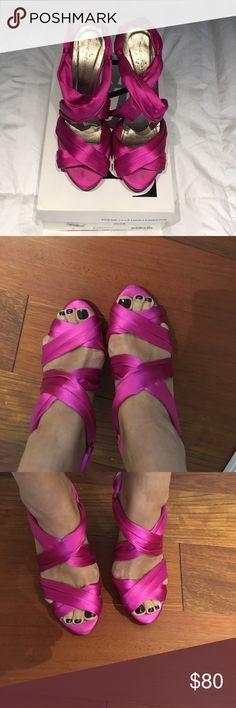 Diane von Furstenberg Pink Sandals DVF Magenta Sandals. In great condition minus a scuff mark. Comes with box and 2 shoe bags Diane Von Furstenberg Shoes Sandals