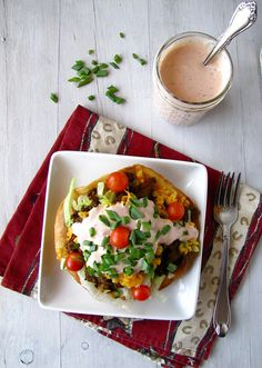 Taco Salad with Salsa-Ranch Dressing via @Milisa- Miss in the Kitchen