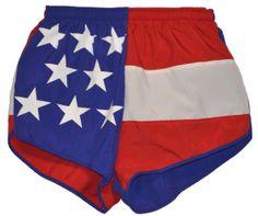 American Flag Running Shorts - Texas, California, Maryland and More