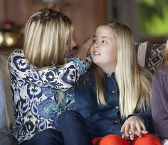 Crown Princess Maxima with Princess Catherine-Amalia