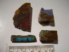 (Lot 20)  4 pieces boulder opal slabs