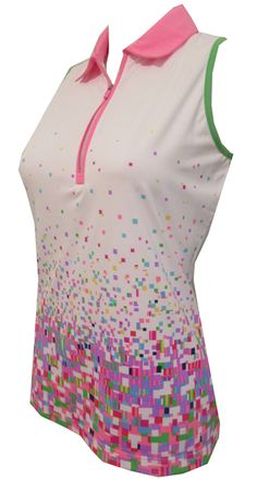 Check out what Lori's Golf Shoppe has for your days on and off the golf course! Coachella (White Multi) EP Sport Ladies Mesmerize Sleeveless Golf Shirt #lorisgolfshoppe