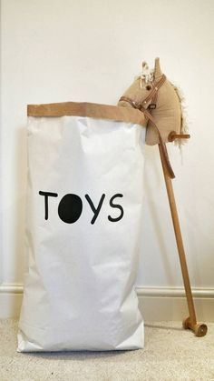 Toys   Personalised, Paper Storage Bag / Paper Toy Bag   Different Colours  Available