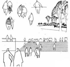 点击查看大图 Architecture Sketchbook, Architecture People, Architecture Graphics, Human Sketch, Human Drawing, Landscape Sketch, Landscape Drawings, Figure Sketching, Urban Sketching