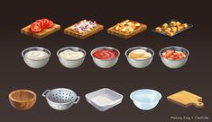 A cooking game made by Zynga. Food Street Game, Desserts Drawing, Dessert Games, Food Clipart, Food Concept, Concept Art, Social Games, Food Icons, Food Drawing