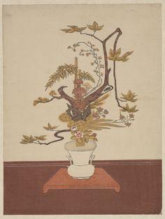 Suzuki Harunobu | Ike Bana (Flower Arrangement) in the Ike-no-bo Style | Japan…