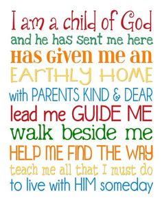 I am a Child of God SUBWAY ART 8x10.jpg