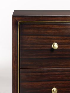we believe that, no matter how functional, every piece in your home should have personality. like this rich ebony and brass chest, complete with hidden bow--it's a place to display curiosities and treasures acquired near and far (and tuck away the rest).