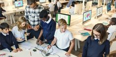 What is a makerspace? Not only are these awesome library hangouts providing STEM education for kids, they help create all-around cool stuff. What Is A Makerspace, Library Center, Stem Steam, Dream Library, First Grade, Teaching Kids, Leadership, Innovation, The Past